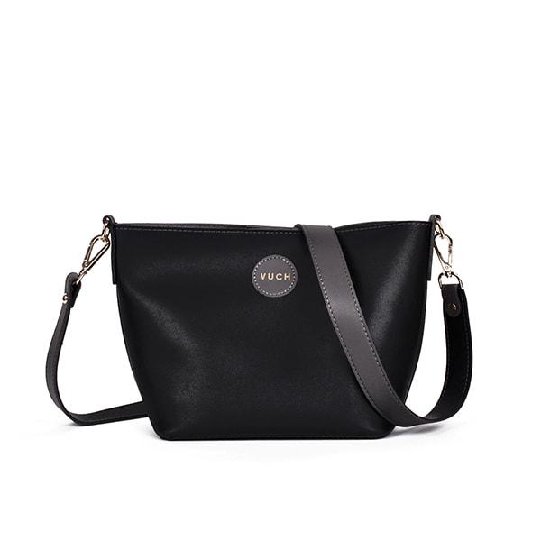 91d25909a80 Dámská černá kabelka přes rameno Invert Collection - MELANIE - Vuch
